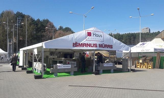 HAUS blokeliai parodoje RESTA Vilniaus betono gaminiai
