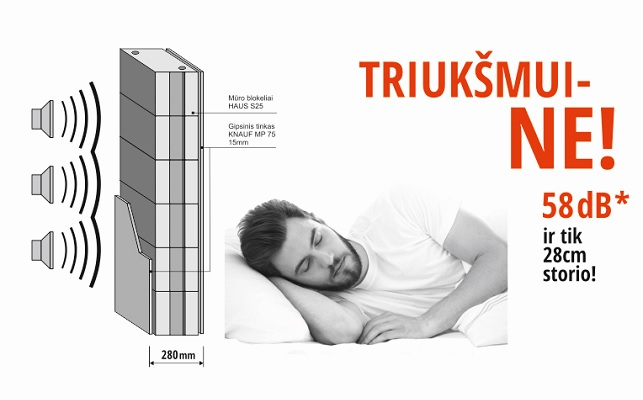 """Haus blokelis S25 – naujas UAB """"Vilniaus betono gaminiai"""" produktas, pakeisiantis storas sienas."""