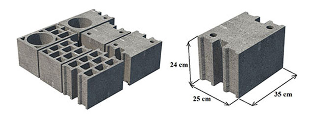 Haus blokelis S25 išmatavimai